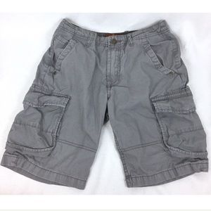 7 For All Mankind Kids Shorts Cargo Gray Casual